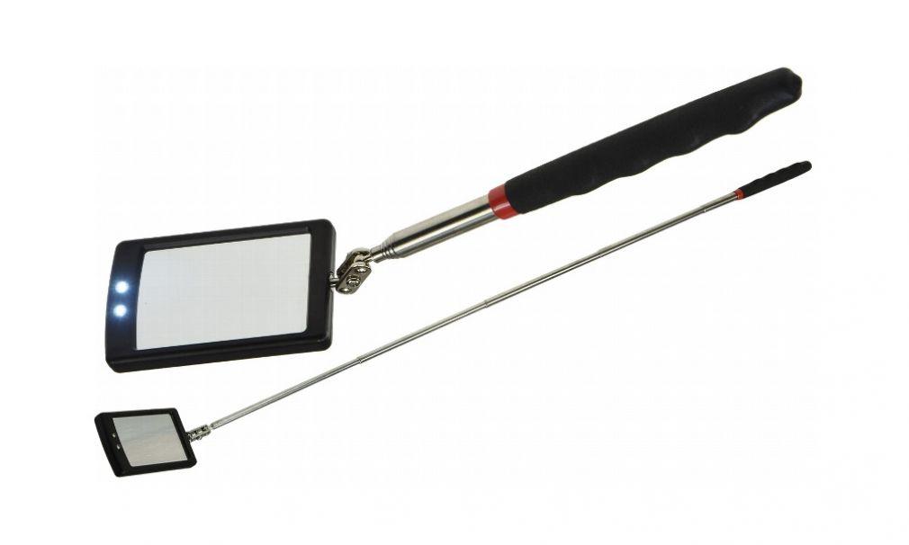 Teleskop Pick-Up Stab mit LED Lampe und Teleskop Spiegel im Set, Schwanenhals - 5