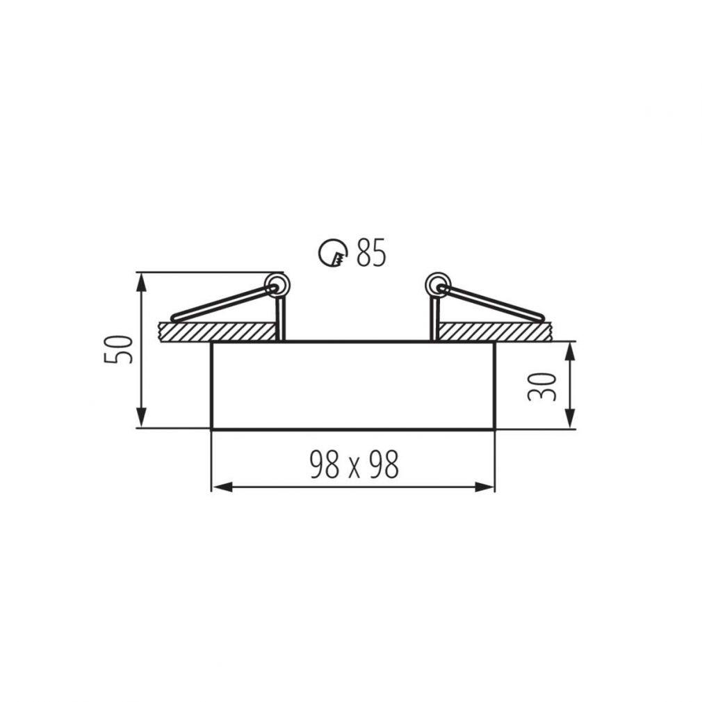Deckeneinbaustrahler weiß quadratisch für LED / Halogen Deckeneinbauring - 5