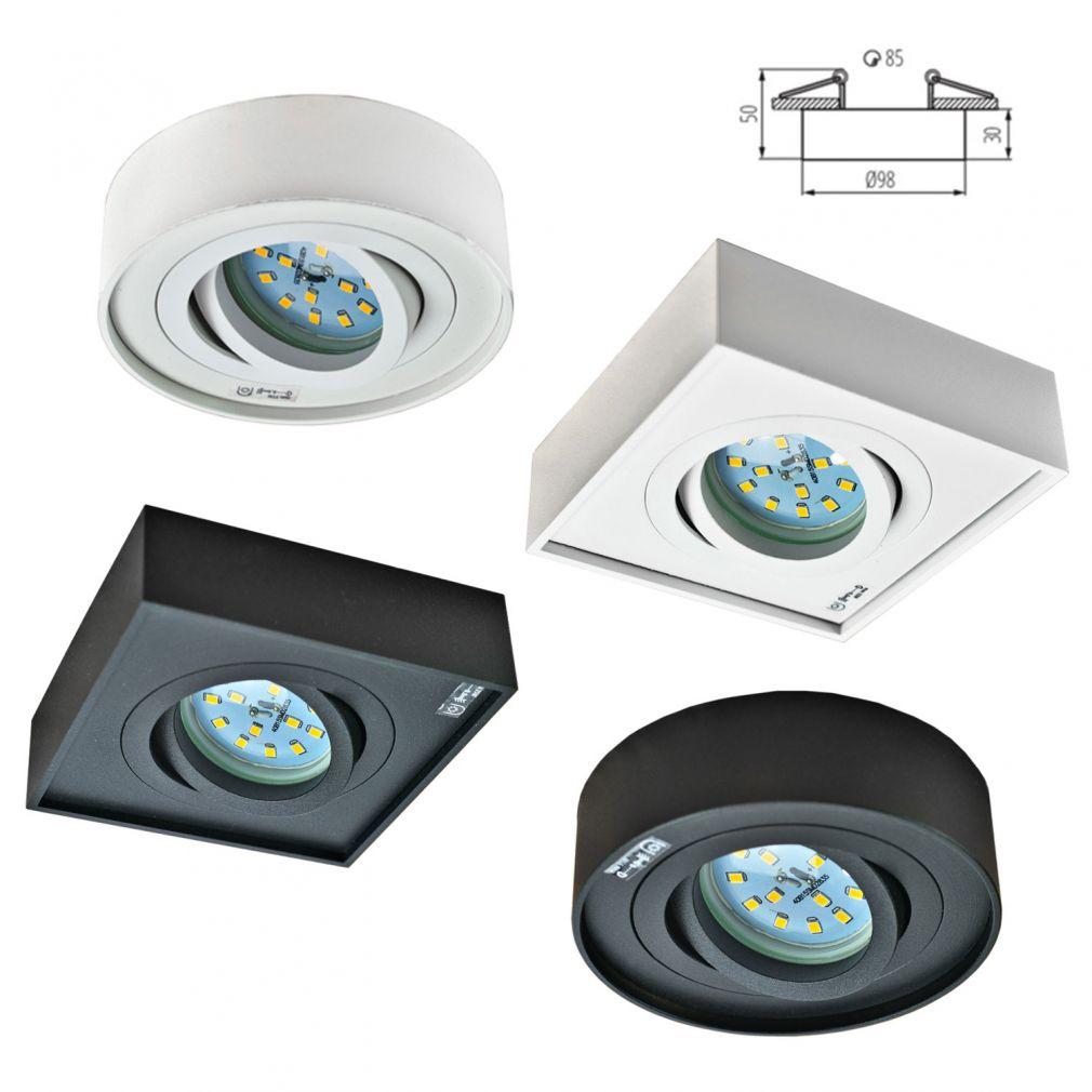 Deckeneinbaustrahler weiß rund für LED / Halogen Deckeneinbauring - 10