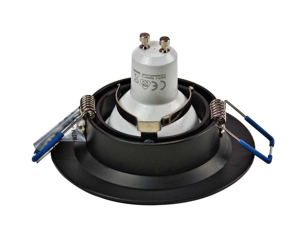Halogen/LED Einbaurahmen MR-16, GU10 Gx5,3 - schwarz Einbauspot, Einbaustrahler - 5