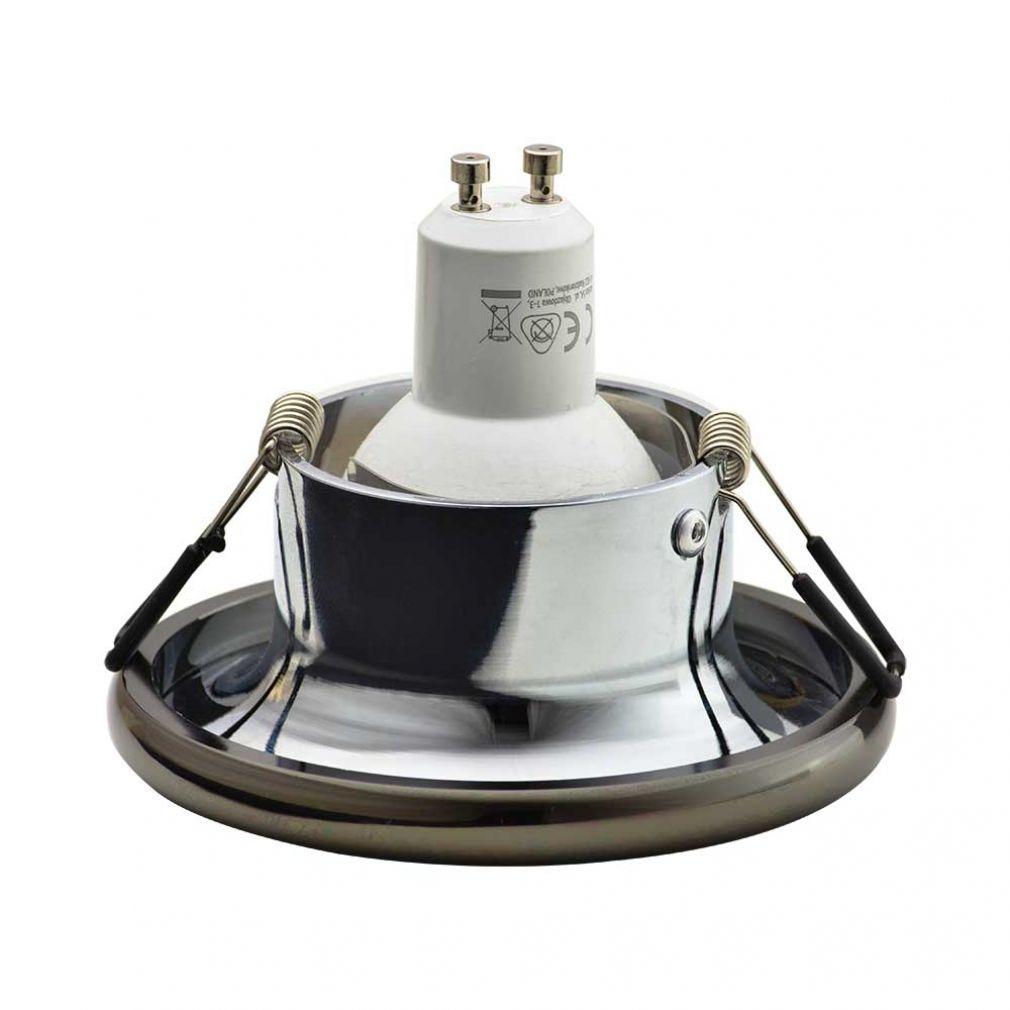 Einbaustrahler Elnis-S Deckeneinbau Leuchte Lampe Einbau-Downlight anthrazit chrome - 2