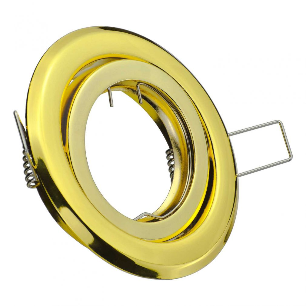 Halogen/LED Einbaurahmen MR-16, GU10 Gx5,3 - gold glänzend Einbauspot, Einbaustrahler - 2