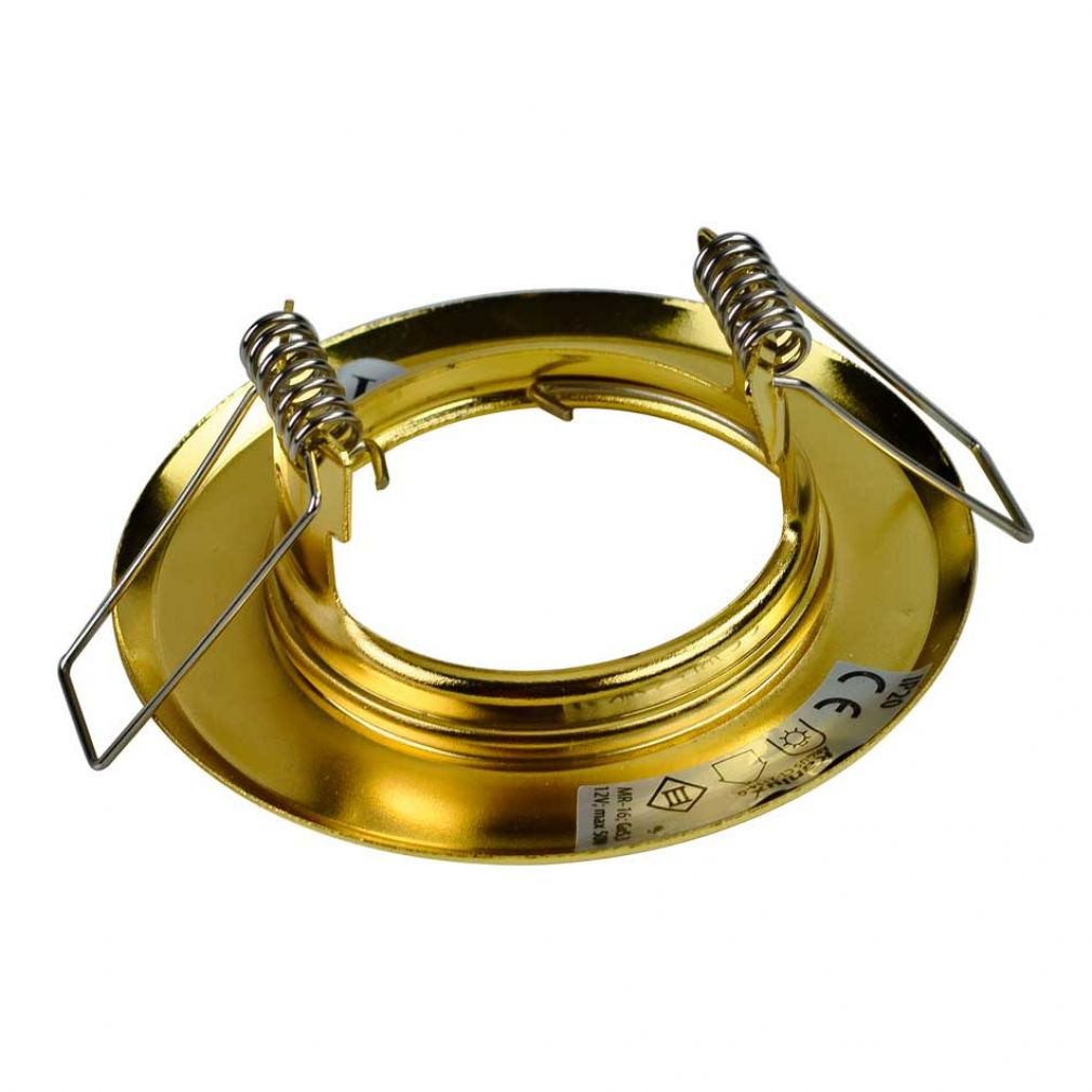 LED Halogen Einbaurahmen MR16, GU10 Gx5,3 gold Einbauspot, Einbaustrahler - 2