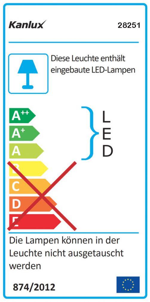 LED Decken-Einbauleuchte rund Spot Einbaulampe weiss - 11