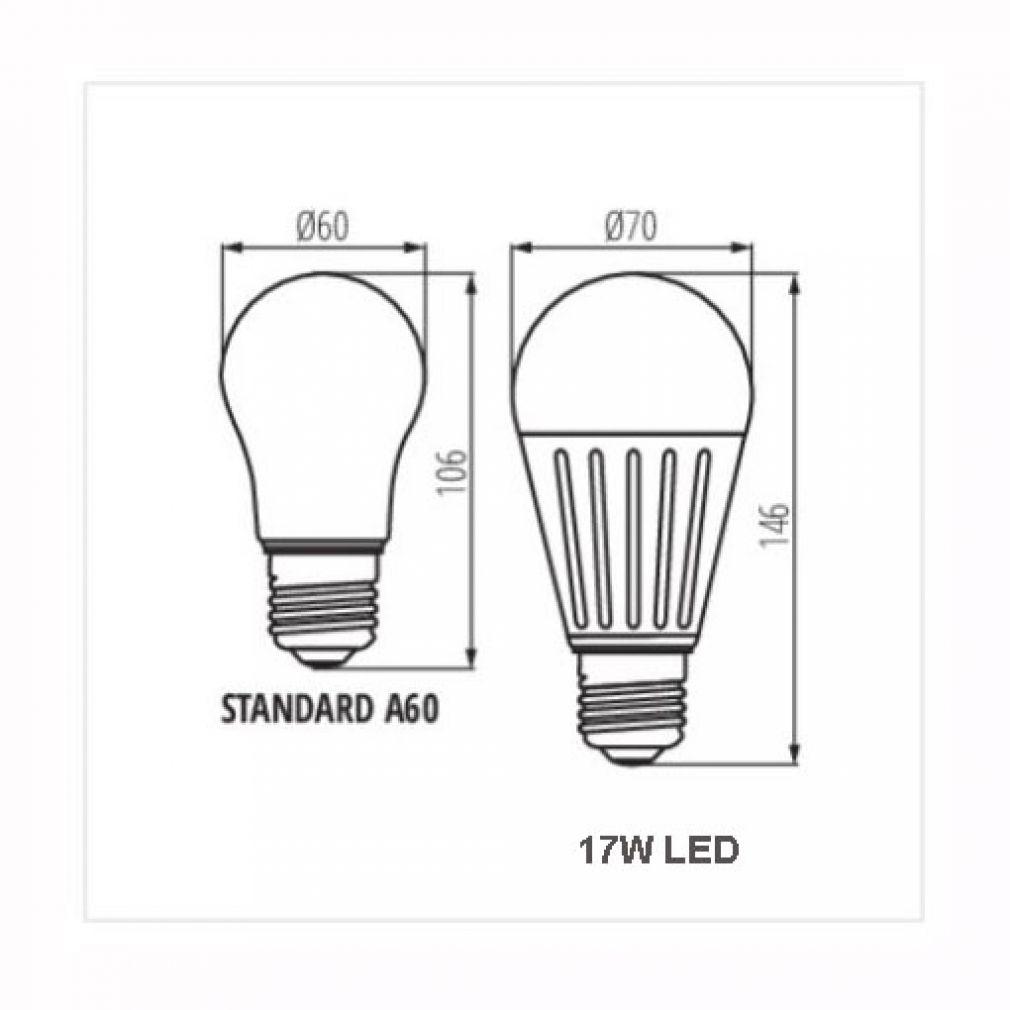 17W LED Lampe E27 warmweiss für z.B. Baustellenlampen Baustrahler Bauleuchten - 2