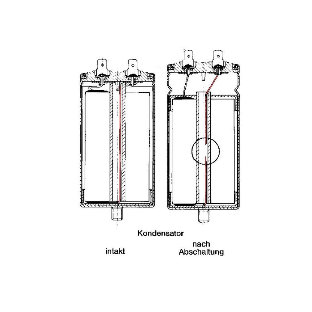 35 uF Motorkondensator Betriebskondensator 35 mF Kondensator Kabelanschluss Alubecher - 5