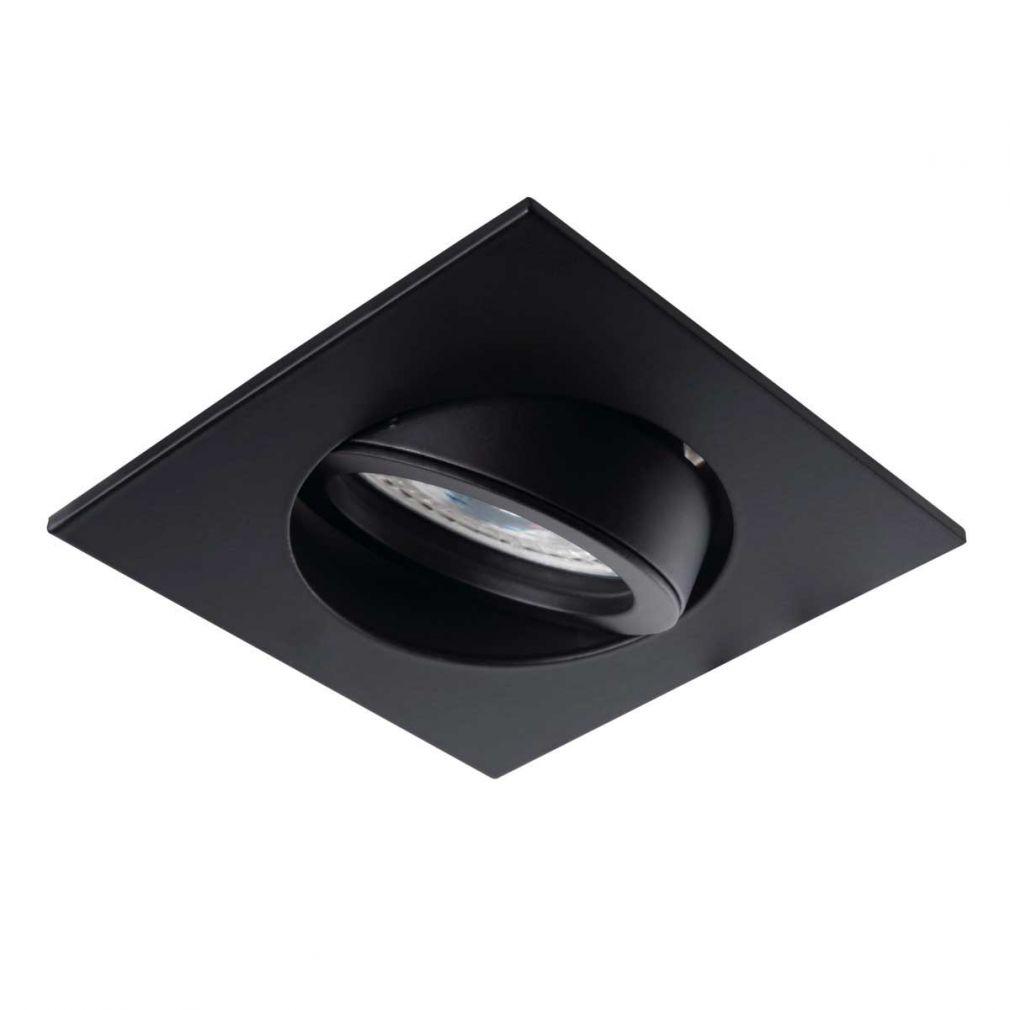 Deckeneinbaustrahler quadratisch schwarz, für LED / Halogenlampen Sockel GX5.3 - 2