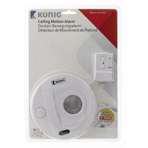 Zimmer / Deckenalarm mit Bewegungssensor 130 dB, rund, Funk, Alarm, Sicherheit - 2