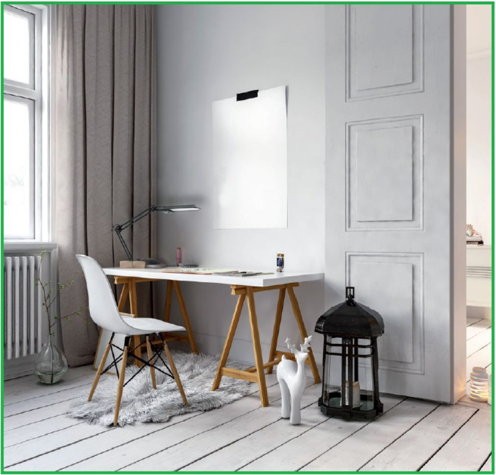 LED Schreibtischlampe, Klemmleuchte, Büroleuchte, schwenkbar, weiß - 3