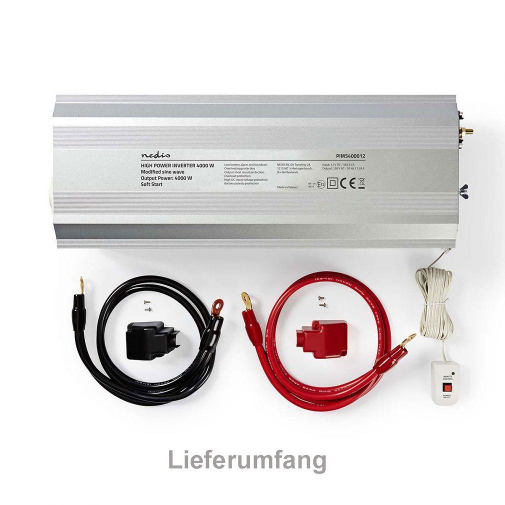 WECHSELRICHTER 12V -> 230V 4000W Spannungswandler - 6